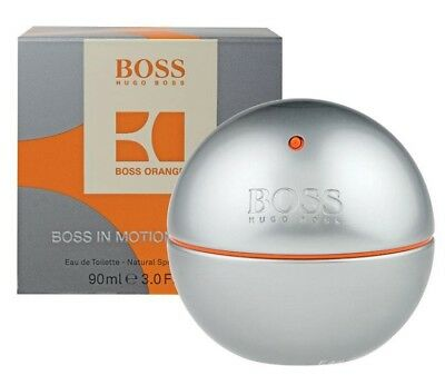 BOSS IN MOTION * Hugo Boss 3.0 oz / 90 ml Eau de Toilette Men Cologne Spray