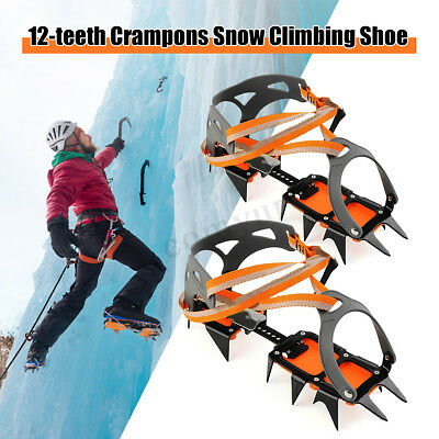 2x Quality Ice Antislip Snow Gripper Hiking Climb Boot Cover Cleat Crampons Shoe