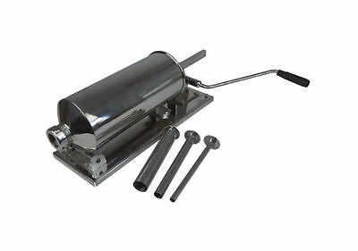 Manual Sausage Filler Stuffing Machine 4 Litre Stainless Steel w/ 3 Crescents