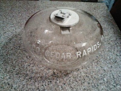 Antique 1930's Glass Gas Pump Tokheim Co Cedar Rapids Ia Tank Gauge Float