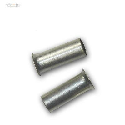 500 Ferrules uninsulated silver plated 2,5mm² 7mm, Wire end