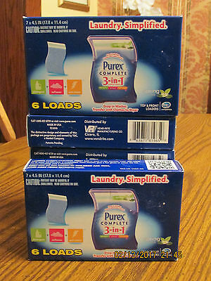 Purex Complete 3 in 1 Laundry Sheets - Get 6 boxes Spring Oasis