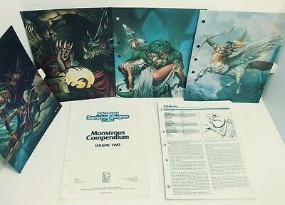 AD&D Dungeons & Dragons Monstrous Compendium Good Condition