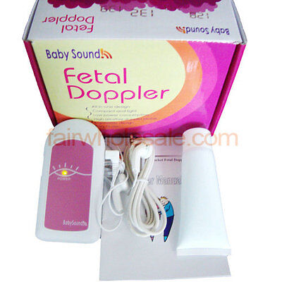 FDA CE proved Pink Baby Sound A Fetal heart beat Doppler HEART MONITORing