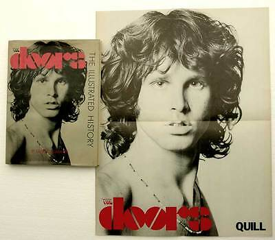 THE DOORS ILLUSTRATED HISTORY w/POSTER signed by Manzarek KRIEGER & Sugerman '83