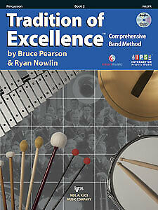 Pearson & Nowlin: Tradition of Excellence Book 2 Percussion - Kjos W62PR Bran...