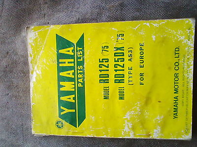 Yamaha Rd125Dx 1975 As3 Parts Book