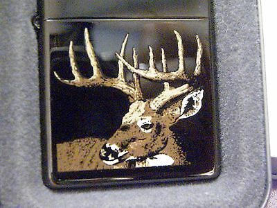 2002 Black Ice Zippo with Deer - NOS! MIB! - Model 20166