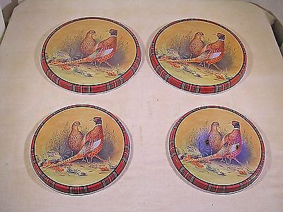 """Burner Covers for Electric Stove """"Ring-neck Pheasant"""", Set of 4, 1 cover damaged"""