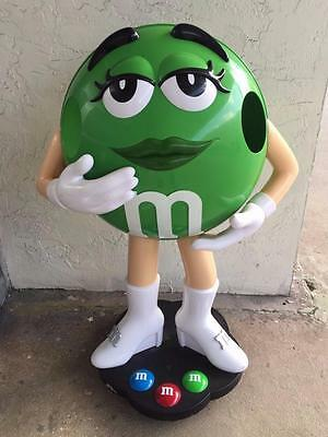 Green M&m Candy Girl Character Store Display On Wheels