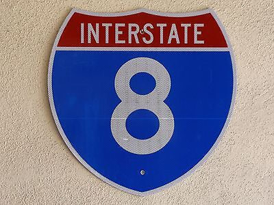 Arizona - California San Diego I-8 interstate 8 highway route road sign REAL