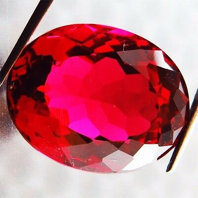 10.15 Ct Rare Awesome! Pigeon Blood Red Ruby Oval  Gem