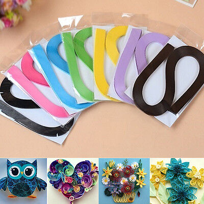 120 Stripes Quilling Paper 3mm Colorful Origami Paper Scrapbooks Craft DIY Toy