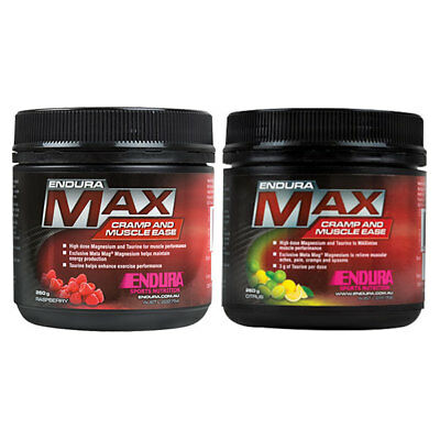 Endura Max Cramp And Muscle Ease 260G All Flavour Available Raspberry & Citrus