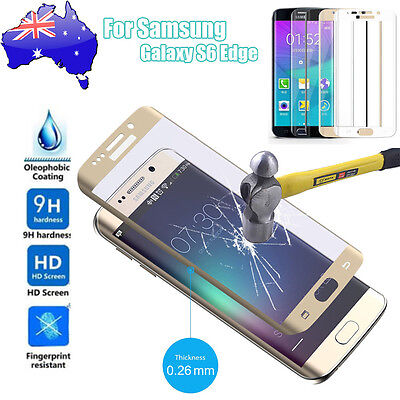 Full Coverage Tempered Glass Screen Protector For Samsung Galaxy S6 Edge NSW