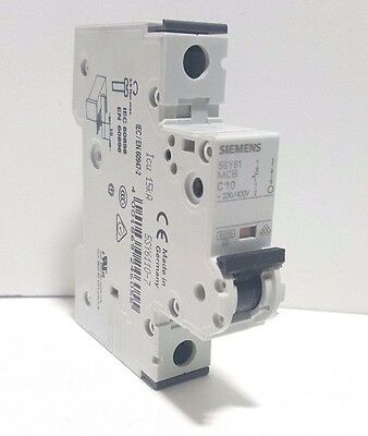 **NEW* SIEMENS 5SY6110-7 10A,Siemens Circuit Breaker Supplementary Protector 10A