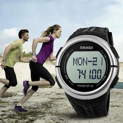 Heart Rate Monitor Sports Watch Waterproof Pedometer Digital LED Wrist Skmei Run