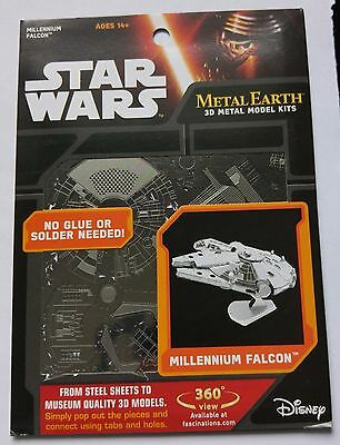 Maquette métal 3D - Metal Earth - Star Wars - Faucon Millenium - Neuf -Collector