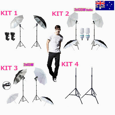 Photography Studio Umbrella Lighting Flash Mount Light Stand Set 33''84cm Video
