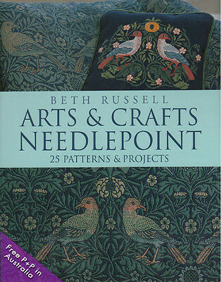 NEW Arts And Crafts Needlepoint by Beth Russell, 25 Patterns &  Products    [Har