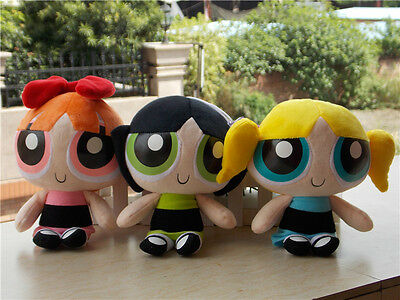 "Powerpuff Girls Doll The 1999 Cartoon Network 9"" Plush Doll Toy Set of 3 Gift"