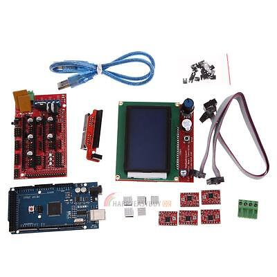 3D Printer Kit RAMPS 1.4 MEGA2560 A4988 LCD 12864 Controller Board for RepRap