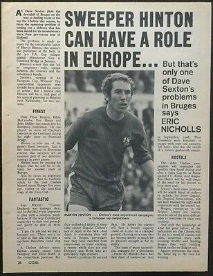 """*1971* A4 Football picture article MARVIN HINTON Chelsea """"Sweeper Hinton"""""""