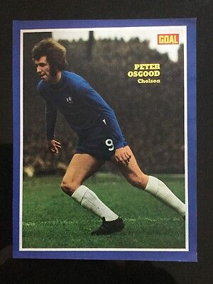 *1971* A4 Football match action picture poster PETER OSGOOD Chelsea