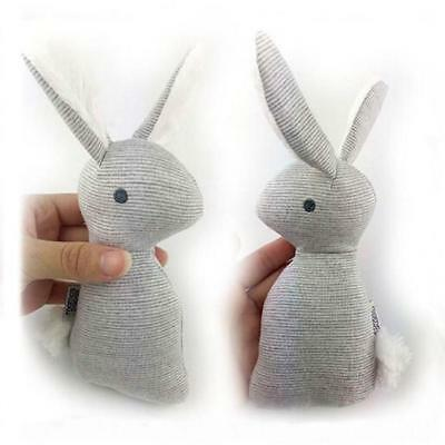 Cute Mini Rabbit Bell Hand Stick Toy Plush Bunny With Rattle For Kids Baby FW