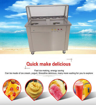 double square pan stainless steel fried ice cream machine,DHL express shipping