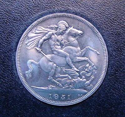 Super British Festival Of Britain Crown Coin King George 1951 In Box