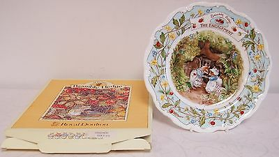 JILL BARKLEM ROYAL DOULTON BRAMBLY HEDGE COLLECTORS PLATE ENGAGEMENT 20cms BOXED