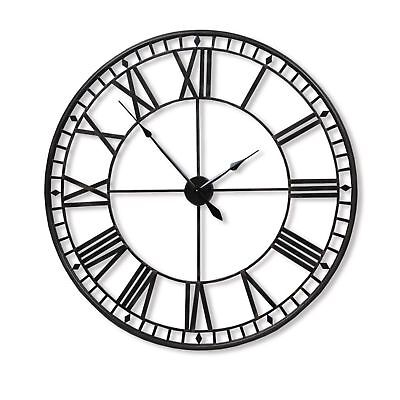 30-80Cm Large Traditional Vintage Style Iron Wall Clock Roman Numeral Home Decor