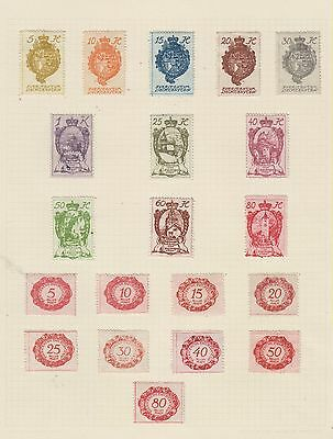 Ml3  Early Stamps From Liechenstein With Postage Dues  From An Old Album