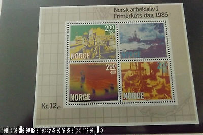Norway Stamp Miniature Souvenir Sheet Stamp Day 1985 Mnh Mint