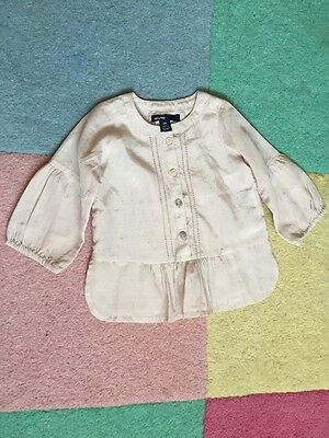 Baby Gap Girls Pale Pink Blouse In Size 6/12 Months