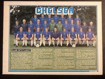 A4 Football TEAM picture poster CHELSEA (1981) John Neal, Manager
