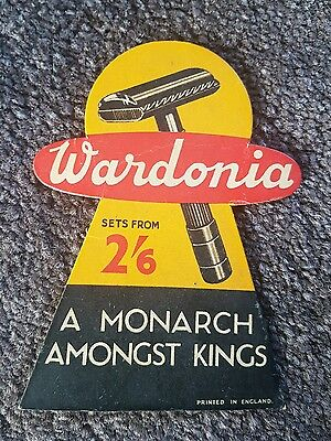 ❤ Old vintage advertising sign shop advert for razors good condition for age ...