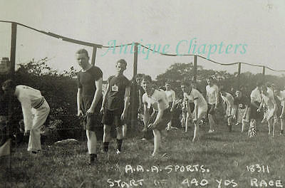 1914 AAA Athletics Start Of 440yds Race Liverpool Mills Carbonora Postcard A753