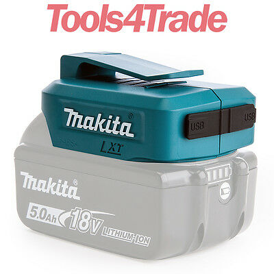 Makita DEAADP05 USB Battery Adaptor for Charging Mobiles & Tablets Battery