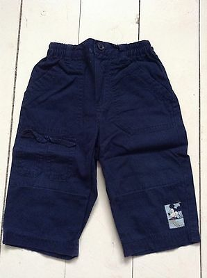 Boys Navy Trousers, Size 6-9 Months