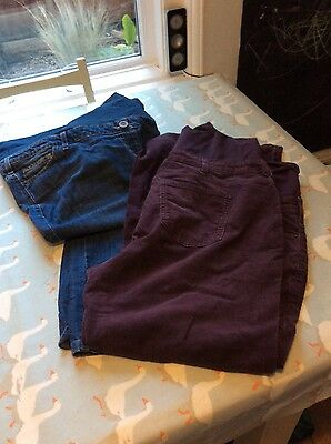boden maternity trousers 20 jeans cords purple