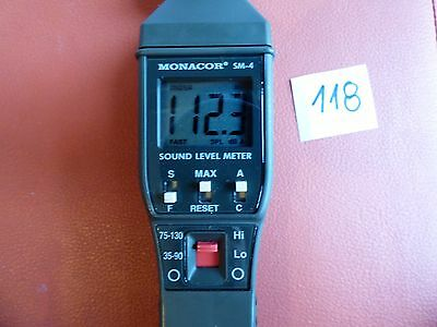 Monacor SM-4 Digital Sound Level Decibel Meter 35-130dB Tester Noise Measurement
