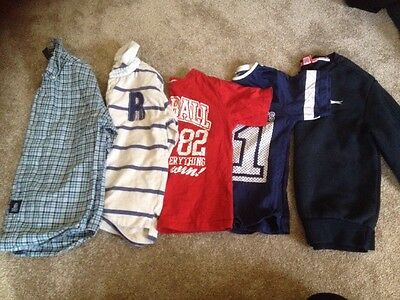 Boys Lovely Small T-Shirts/jumper And Shirt Bundle Age 7-8 Years