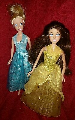 Disney Cinderella  and  Belle Beauty and the beast  barbie Dolls