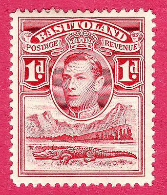 Basutoland Stamps. KGVI 1938 1d Tower Flaw. SG19a. MH. #3007