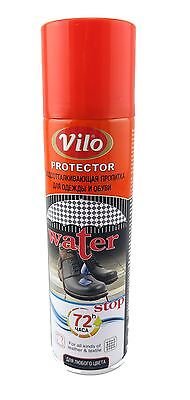 Vilo Waterproof Spray protector - For Leather Suede nubuck Shoes Boots  250ml