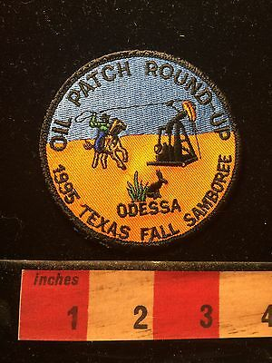 1995 Odessa Texas Patch ~ Oil Patch Round Up - Cowboy Lasso Oil Rig Desert 69FF
