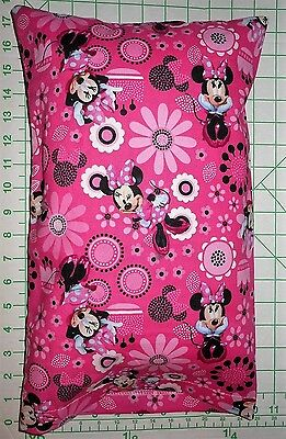 Disney Minnie Mouse & flowers on Pink Sm. Pillow Case & Travel / Toddler Pillow