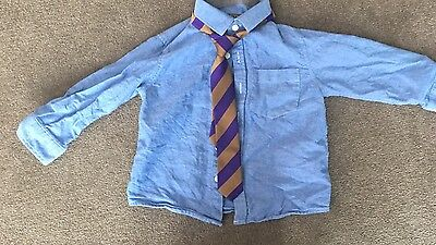Next Boys Blue Shirt And Tie Set Age  1.5 To 2 Years